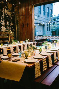 restaurant reception, photo by Pen Carlson http://ruffledblog.com/downtown-chicago-wedding #weddingreception #weddingideas