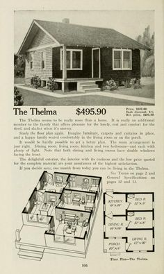 Aladdin homes built in a day : catalog no. Cute Small Houses, Small Tiny House, Small House Plans, Little Houses, Cottage Floor Plans, House Floor Plans, Bungalow Cottage House Plans, House Plans With Pictures, Vintage House Plans