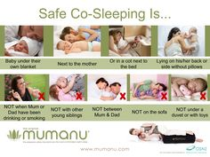 Co-Sleeping is safe if done sensibly. The Mumanu Pillow keeps you really comfortable while you co-sleep or breastfeed lying on your side. It prevents you from twisting so you can relax and feel safe