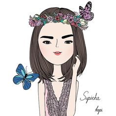 """thank you na ka @supicha_r #illustration #kapiz"""