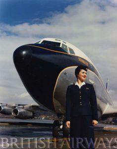 British Airways Vintage Airline Stewardess