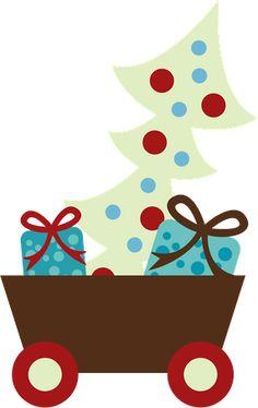 CHRISTMAS CART CLIP ART