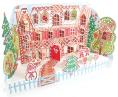 Gingerbread House Advent Calendar - with pop-up characters and doors and windows that open, this calendar is good enough to eat!