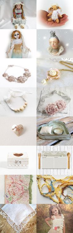 Lace Dolls by Anna Margaritou on Etsy--Pinned with TreasuryPin.com