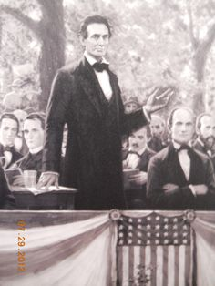 Abraham Lincoln print from the Lincoln-Douglas Debates (c. 1858.)