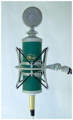 """The Blue Kiwi"" condenser microphone."