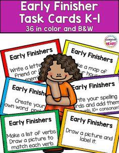 #tpt #tptpins #early #finishers #task #cards #kindergarten #firstgrade #elementary #education #teachers #printable #fun