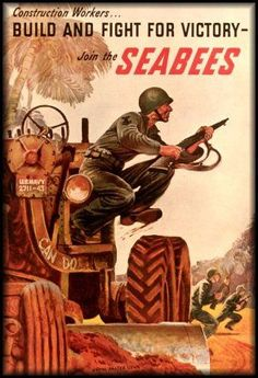 United States Navy SeaBees ~ Of which my husband was one for 21 years of his 25 year Naval Career.