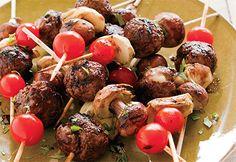 Brochettes de boulettes de bœuf à l'italienne #bbq #italie