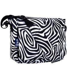 Wildkin Zebra Kickstart Messenger Bag
