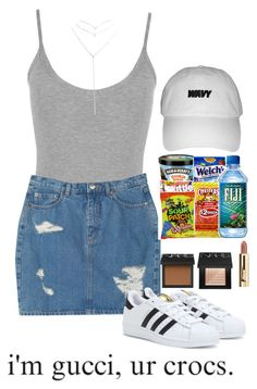 """Sausin'"" by shaminhall ❤ liked on Polyvore featuring WearAll, Monki, NARS Cosmetics, Wet Seal and adidas"