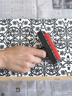 Decorate an Old Dresser - How to Refinish a Dresser with Wallpaper - Redbook