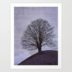 Tree in purple Art Print by Anne Staub - $19.76