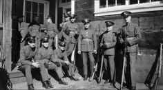 Royal Canadian Air Force recruits take a breather at Camp Borden, circa 1936. PHOTO: DND