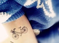 This vintage bike: | Community Post: 23 Temporary Tattoos Every Traveler Will Love