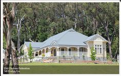Fair Dinkum Federation, Mt Evelyn Vic Harkaway Homes Australian Architecture, Australian Homes, Dream House Plans, My Dream Home, Dream Homes, House Front, My House, Farm House, Future House