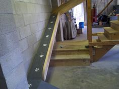 http://www.facebook.com/EdWeberContracting Dog ramp. We built a ramp for an aging pet who was having difficulty navigating the stairs. There are even treat holes drilled throughout to make sure she looks forward to using her new ramp. The paw prints were the idea of one of our crew members .