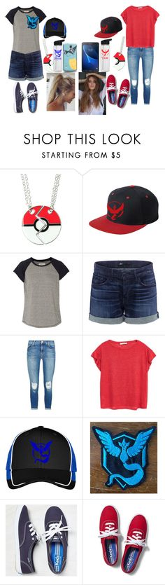 """Pokemon Hunting"" by chibiblue ❤ liked on Polyvore featuring Valor, Current/Elliott, 3x1, J Brand, MANGO, Keds and Samsung"