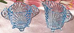 Cambridge Glass Moonlight Blue Caprice Creamer & Sugar #38/40   http://www.tias.com/cgi-bin/item.fcgi?itemKey=3924156090