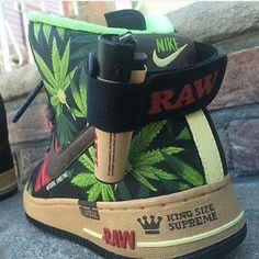 Raw Nike Marijuana Hightops (King Size Supreme)