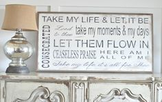 Take My Life by BetweenYouAndMeSigns on Etsy, $125.00