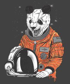Bear astronaut illustration.