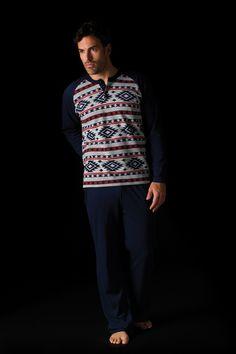 Pijama hombre punto con estampado étnico Soy Underwear #soy #etnico