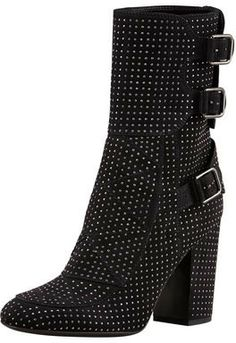 Laurence Dacade Merli Triple-Buckle Studded Mid-Calf Boot on shopstyle.com