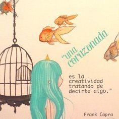 """""""Una corazonada es la #Creatividad tratando de decirte algo."""" #FrankCapra #Citas #Frases @Candidman"""