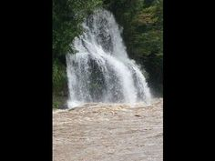 The waterfall which quantity of water increased in a typhoon September 16, 2013 Shiobara Onsen Tochigi Japan _