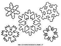 Risultati immagini per fiocchi di neve disegni da colorare