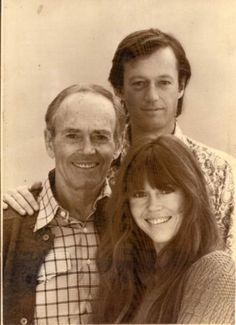 Henry Fonda with daughter Jane and son Peter