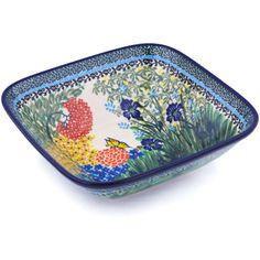 Polish Pottery 9-inch Bowl | Boleslawiec Stoneware | Polmedia H0490G | Polmedia