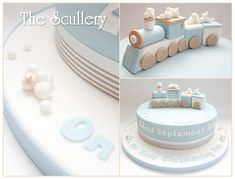Little boys christening cake - choo choo ;-) | The Scullery (Louise) | Flickr