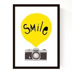 Affiche Smile Jaune