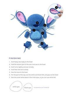 PATTERN Stitch Etsy in 2021 Crochet disney, Crochet