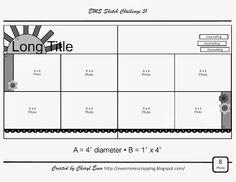 Moon over Music-Even More Scrapping!: EMS Sketch Challenge 51 - The Secret Garden Scrapbook Layout Sketches, Scrapbook Templates, Card Sketches, Scrapbooking Layouts, Sketch 2, Sketch Ideas, Wedding Scrapbook, Disney Scrapbook, Scrapbook Paper Crafts
