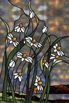 Cornflower Bluff Stained Glass Pattern from Glass Pattern Source (inspiration for shoes) Stained Glass Flowers, Faux Stained Glass, Stained Glass Designs, Stained Glass Panels, Stained Glass Projects, Stained Glass Patterns, Leaded Glass, Mosaic Glass, Mosaic Mirrors