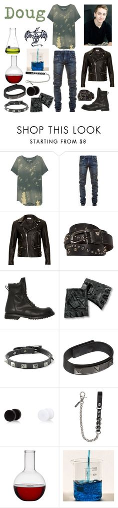 """Bad Boy Doug"" by keih95 ❤ liked on Polyvore featuring True Religion, Balmain, Yves Saint Laurent, Hollywood Trading Company, Rick Owens, Valentino, Dsquared2, Jay, men's fashion and menswear"