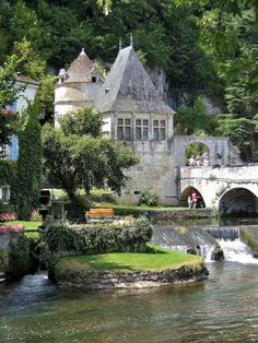 Brantome (The Venice of the Perigord), Dordogne, France Places Around The World, Oh The Places You'll Go, Places To Travel, Around The Worlds, Wonderful Places, Beautiful Places, Belle France, La Dordogne, Beaux Villages
