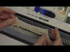 Diana natters on... about machine knitting: New Video for Augus - Two Diagonal Trims
