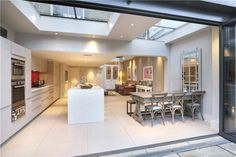 Kitchen extension - ticks a lot of boxes. Kitchen extension - ticks a lot of boxes. Kitchen Diner Extension, Open Plan Kitchen, Küchen Design, House Design, Interior Design, Design Ideas, Loft Design, Extension Veranda, Glass Roof Extension