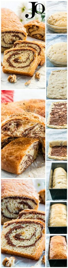 """Sweet Walnut Roll known as """"Cozonac cu Nuca"""" is a traditional Romanian sweet bread made with raisins and walnuts or pecans enjoyed at Christmas and Easter. bread with raisins Walnut Roll (Cozonac cu Nuca) Best Dessert Recipes, Fun Desserts, Delicious Desserts, Snack Recipes, Cooking Recipes, Bread Recipes, Easy Recipes, Romanian Food, Romanian Recipes"""