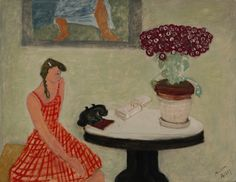 Milton Avery (1885–1965), Girl and the Telephone, circa 1943
