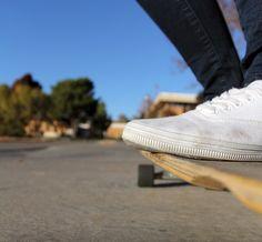 white vans and longboarding<3