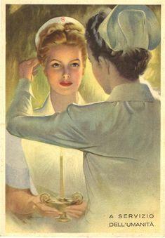 A nurse boarding school promotional card, ca. Pictures of Nursing: The Zwerdling Postcard Collection. National Library of Medicine Nurse Pics, Nurse Photos, Nursing Wallpaper, Radiology Humor, Jean Leon, Nurse Art, Vintage Nurse, Medical Art, Nurse Humor