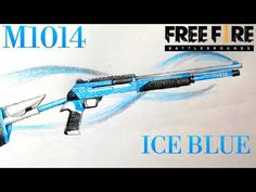 How to draw M1014 Ice Blue || Garena Free Fire || Vẽ M1014 Hàn Băng - YouTube Fire, Drawings, Drawing, Portrait, Illustrations