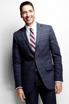 Beautiful window pane jacket.  Shown in a casual ensemble.  Creative and bold, yet sophisticated.
