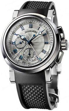 5827BB/12/9Z8 Breguet Marine Chronograph 5827 - швейцарские мужские наручные часы - золотые, серые - хронограф