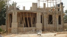 """The Making Of The """"Anambra 5 Bedroom Duplex"""" - Properties - Nigeria Framing Construction, House Construction Plan, Model House Plan, House Plans, Concrete Block Foundation, Duplex House Design, Living Room Windows, Iron Work, Village Houses"""